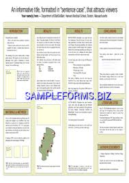 Poster Template Samples Forms