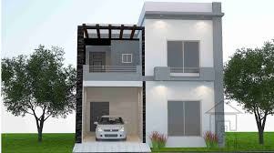 100 Designs Of A House This Is A Standard 5 Marla House Front Design With The Complete