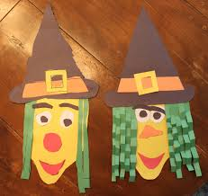 Construction Paper Halloween Witch