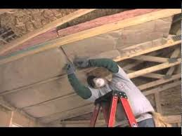 Hanging Drywall On Ceiling Trusses by Owens Corning Ceiling Batt Insulation Youtube