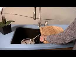 elkay harmony e granite double bowl sink with aqua divide youtube