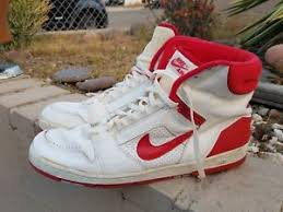 Image Is Loading Used Vintage Nike Air Basketball Shoes Men Size
