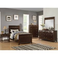 Conns Living Room Furniture Sets by Trilogy Bedroom Bed Dresser U0026 Mirror Cappuccino Twin 67274