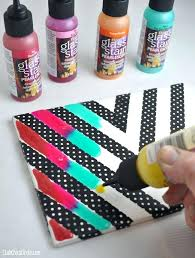 Awesome Crafts For Tweens Rainbow Glass Stained Chevron Art Tile Tween Craft Ideas Mom And Daughter Toddlers Pinterest