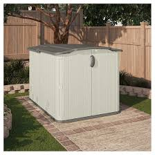 Rubbermaid Slide Lid Shed Instructions by Elegant Suncast Glidetop Storage Shed 26 With Additional
