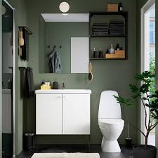 enhet tvällen badezimmer set 11 tlg weiß anthrazit