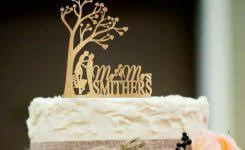 Wedding Cake Topper Funny Photo Rustic Personalized 900 X 610