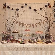 Rustic Baby Shower Deer Theme Country Pink Little Woodland Crafty DIY Girl Burlap Banner