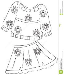 Royalty Free Illustration Download Print Clothes Coloring Page