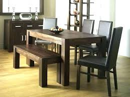 Dining Room Table With Benches Dark Wood Creative Of Bench Tables