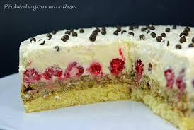 gâteau framboises et pistaches au chocolat blanc péché de