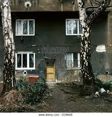 Interior Courtyard Of An Apartment Building Zizkov Prague Czech Republic