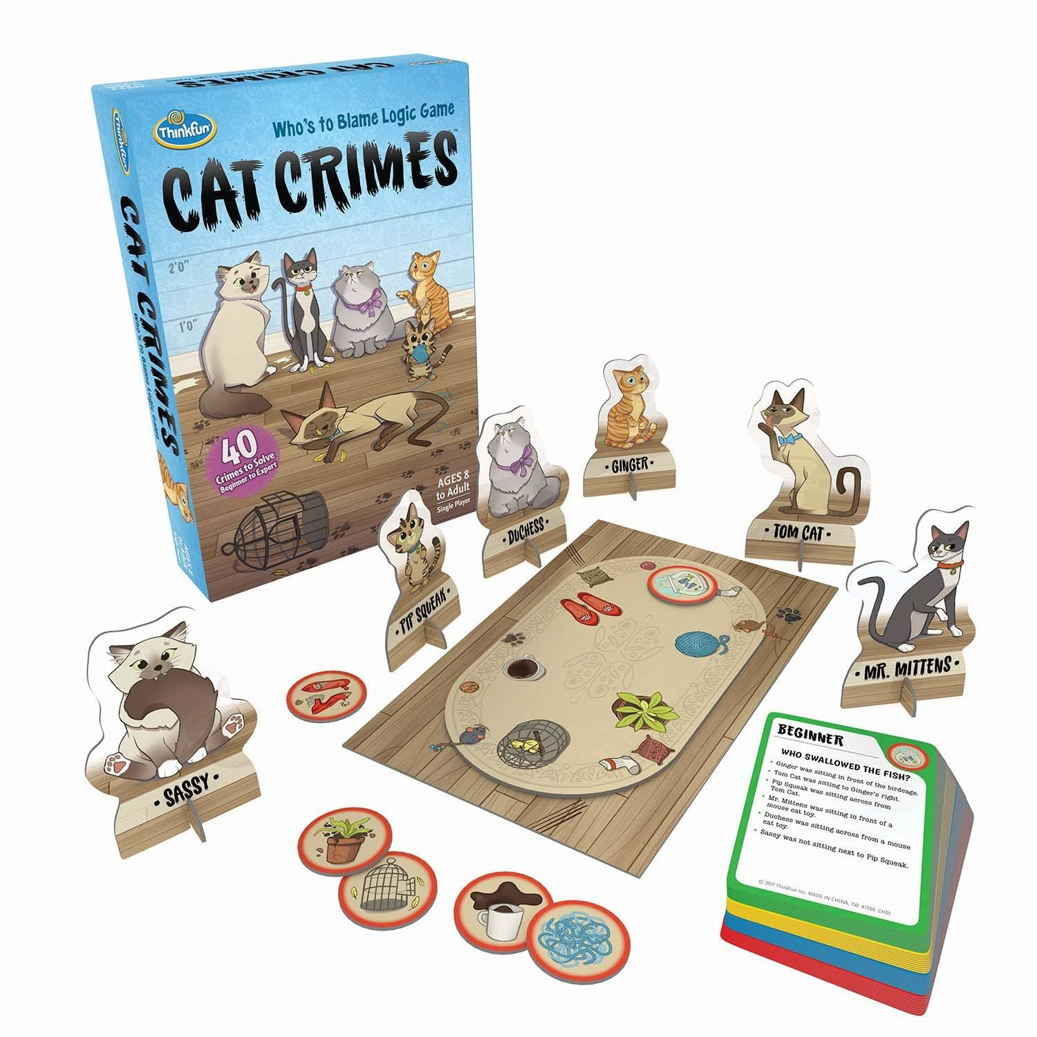 ThinkFun Cat Crimes Logic Game