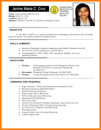 Great Sample Resume For College Students Philippines With Additional At Student Format
