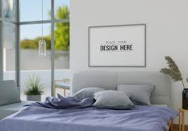 wandkunst leinwand oder bilderrahmen mockup interieur in