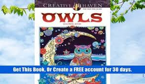 Free Download Creative Haven Owls Coloring Book Books PDF