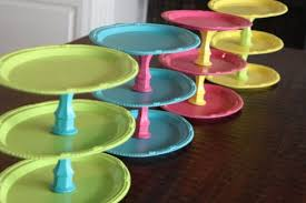 Colorful DIY Cake Stands Shelterness
