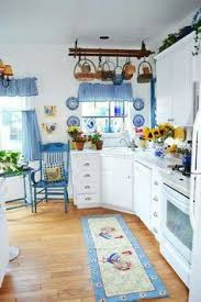Blue And White Kitchen Decorated With Roosters For Me I Like Everything But The