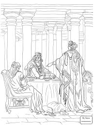 Christianity Bible Esther Accusing Haman Coloring Pages For Kids