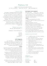 Hotel Resume Objective For Jobs Housekeeping Description Examples Manager