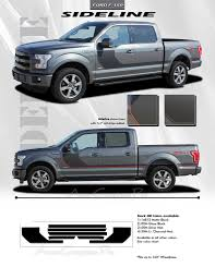 100 Ford Truck Decals SIDELINE 20152018 F150 Vinyl Graphics 3M Kit