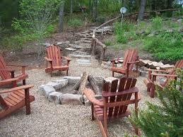 Pea Gravel Patio Plans by Exterior Enchanting Garden Design With Cozy Resin Adirondack
