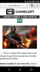 modern combat 4 zero hour available free for xperia z owners this