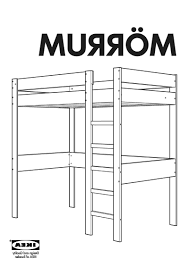 Ikea Brimnes Bed Instructions by Fjellse Bed Frame Fulldouble Ikea Instructions Pdf 0107489 Pe2571