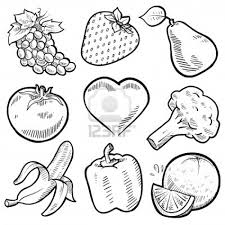 Fruits And Vegetables Coloring Pages For Kids Printable 3