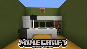 Minecraft Pe Living Room Designs by How To Make A Gaming Setup In Mcpe Minecraft Pe Youtube
