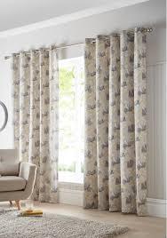 100 Ochre Home Portfolio Springfield Ready Made Eyelet Header Curtains