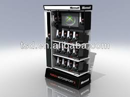 TSD W031 Factory Custom Retail Store Video Game Display Stand Shop Shelves