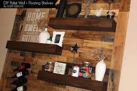 Dining Room Remodel Pallet Wall Floating Shelves – Ellery Designs