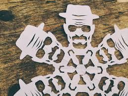 DIY Breaking Bad Heisenberg Paper Snowflake Design Geekologie