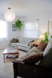 Living Room Furniture And Indoor Plants