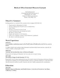 Sample Secretary Resume Bunch Ideas Of Medical Receptionist Easy