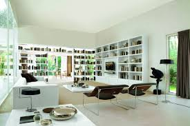 Modern Japanese Style Living Room Interior Design With Small Home Library Ideas