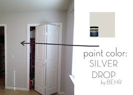 silver drop behr favorite paint color planned for the whole