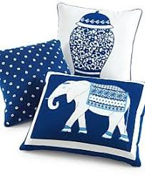 Macys Sofa Pillow Covers by Martha Stewart Collection Indigo Ginger Jar 18
