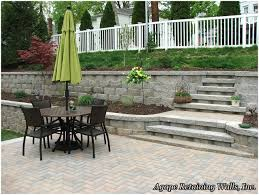 Backyards: Gorgeous Retaining Wall In Backyard. Simple Backyard ... Backyard Multi Level Paver Patio Steps Le Flickr Interlock Natural Stone Landscaping Minnesota Patios Southview Design 25 Beautiful Leveling Yard Ideas On Pinterest How To Level Creating A Meant Building Retaing Wall Behind Ideas Charcoal Slate Stones With Pea Stone Gravel Bethesda 365 Home Sales In Pool Ground And Setup 2014 Home Deck Foyer Garage Split Creative For Urban Outdoor Spaces Image Trending Sloped Backyard Sloping Modular Block Rhapes Also Back