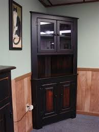 Black Corner Hutch Luxurious Great Cabinet Dining Room Best Home Plans And