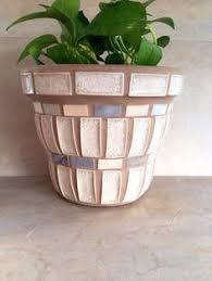 Small Mosaic Flower Pots Tiny Planters Succulent Handmade Kitchen Herb Pot Glass Planter Air Plant Rustic Terracotta