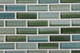 rip curl green and blue painted glass subway mosaic tiles