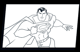 RUN SUPERMAN COLORING PAGE