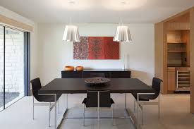 Aesthetic Table Dining Room Modern With Light Fixture Wall Decor Wood