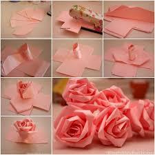Paper Flower Instructions Easy
