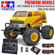 100 Monster Truck Lunch Box TAMIYA RC 58347 2005 112 Premium Stick Radio Bundle