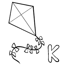 Kite Coloring Pages K For