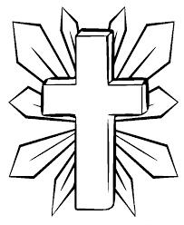 Three Crosses Coloring Page Tags Cross Beach Quail