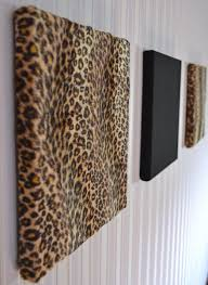 Leopard Bathroom Decorating Ideas by Gorgeous Leopard Cheetah Fur Canvas Style Wall Panel Set Of 3